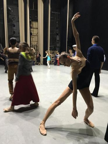 Backstage til semifinalen Arabesque i Perm, Russland. Foto Siri Aarset Johansen